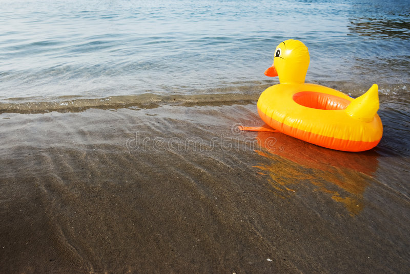 Canard gonflable photographie stock