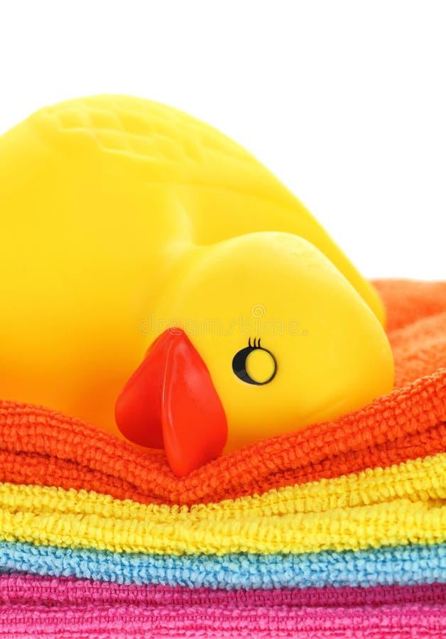 Canard jaune en caoutchouc photo libre de droits