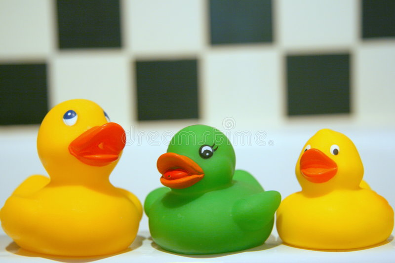 Canards de salle de bains image stock
