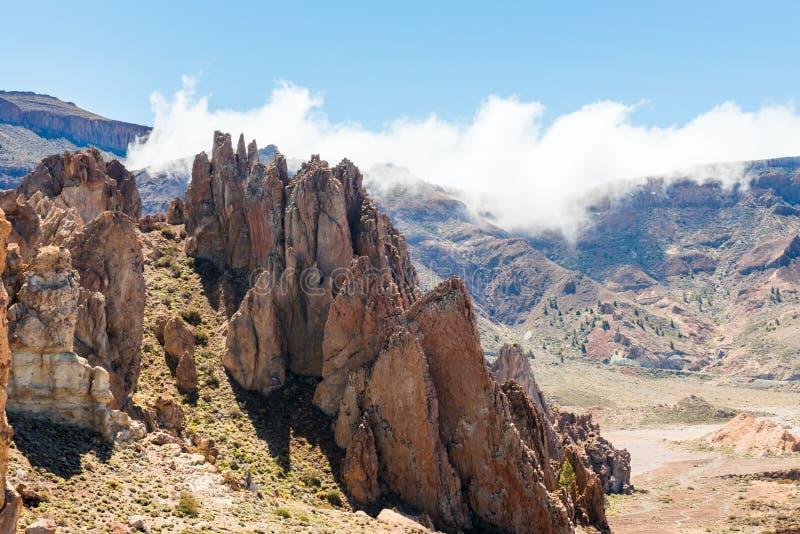 Canari de Ténérife de volcan de Teide de paysage de lave images stock