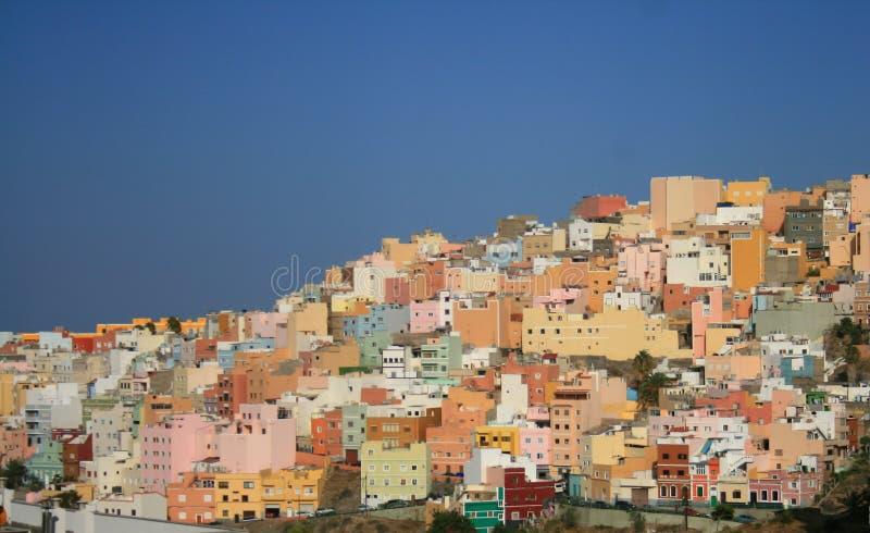 canaria city de gran Las Palmas 免版税库存图片