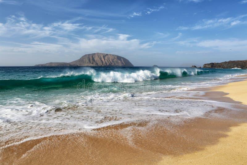 Canarias di isla di lambra di Playa immagine stock libera da diritti