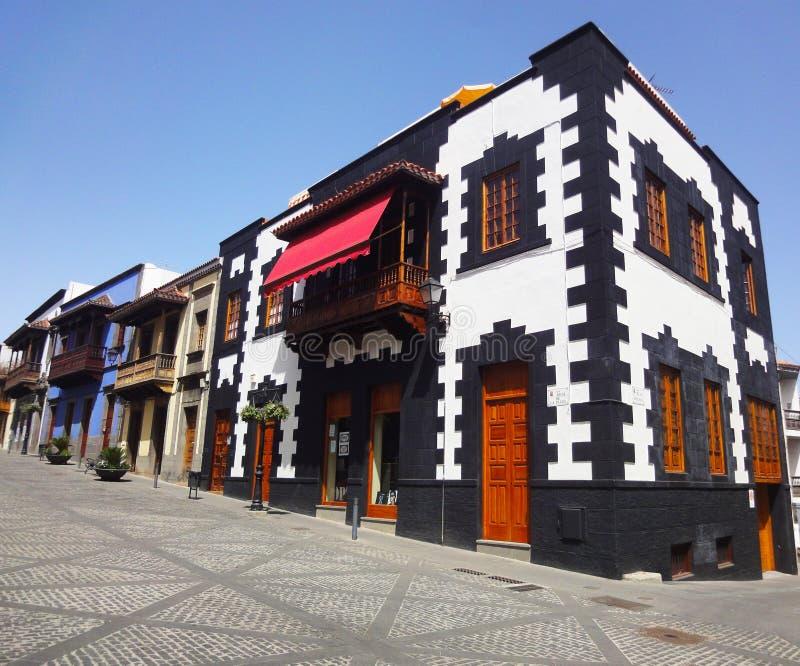 Canarisch schilderachtig huis, Spanje stock afbeeldingen