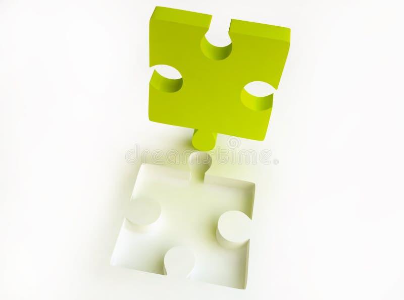 Canary-coloured Jigsaw Puzzle Stock Photos