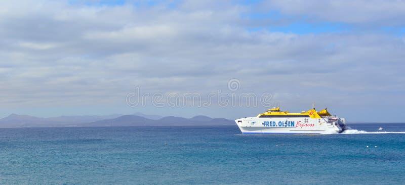 Canary Island Express Ferry stock photo