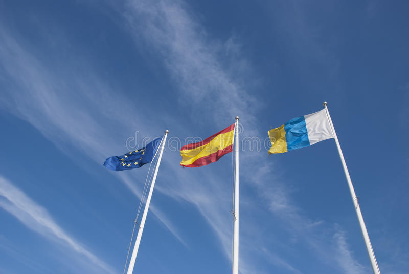 Canary Island Flags Royalty Free Stock Images