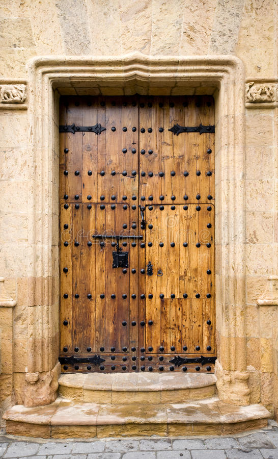Canary Islands door. In Vegueta, Las Palmas de Gran Canaria royalty free stock images