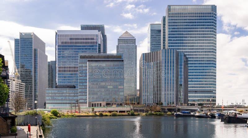 Canary Wharf του Λονδίνου στοκ φωτογραφίες με δικαίωμα ελεύθερης χρήσης