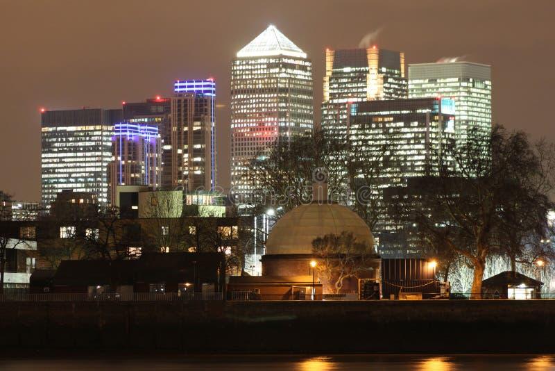 Canary Wharf fotos de archivo libres de regalías