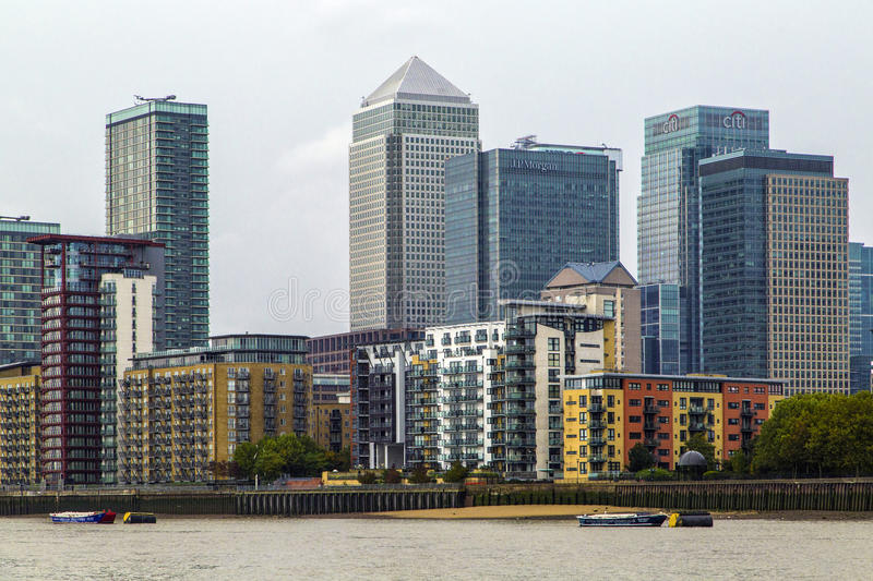Canary Wharf obraz royalty free