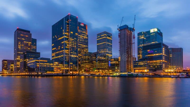 Canary Wharf immagini stock