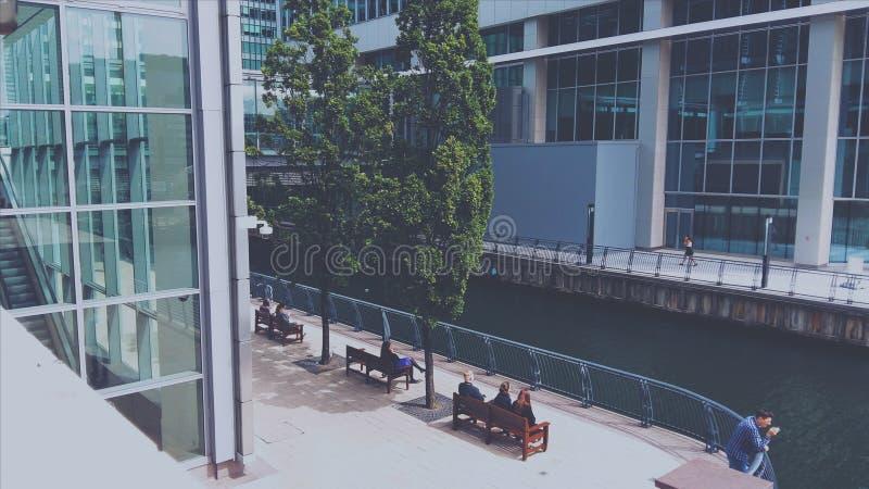 Canary Wharf image libre de droits