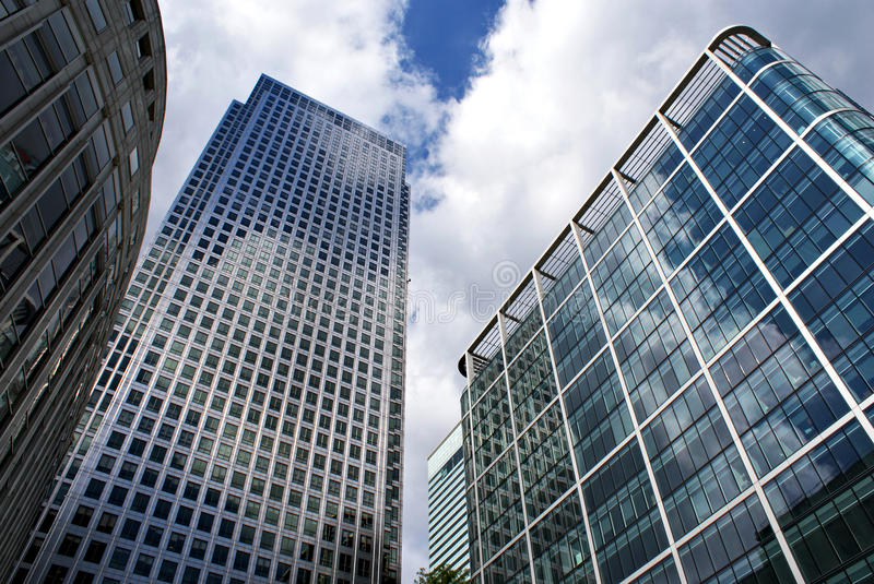 Canary Wharf Buildings royalty free stock photo