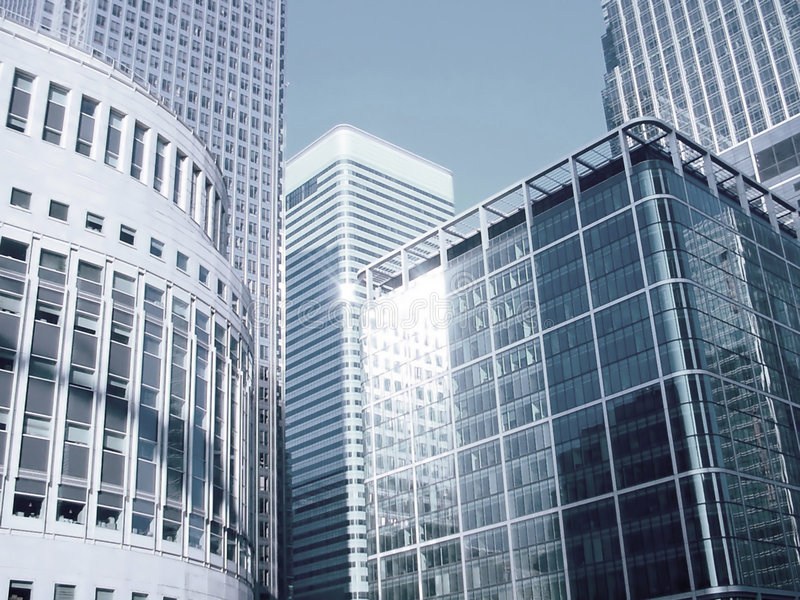 Download Canary Wharf Buildings stock photo. Image of england, blue - 48338