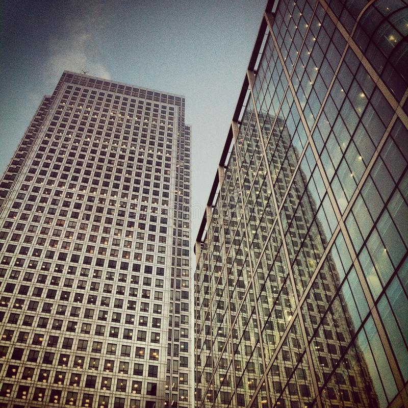 Canary Wharf - Cabot Square Stock Photos