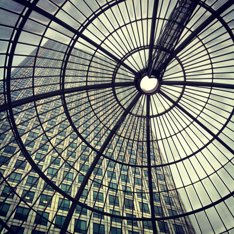 Download Canary Wharf - Cabot Square Through Glass Roof Stock Photo - Image of lines, contemporary: 28634366