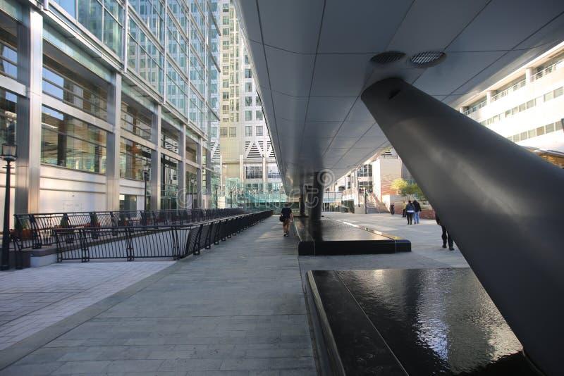 Canary Wharf Crossrail, Λονδίνο στοκ φωτογραφία