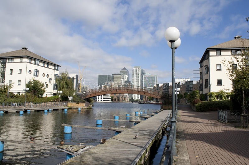 Canary Wharf And The Dosclands Canals Stock Image