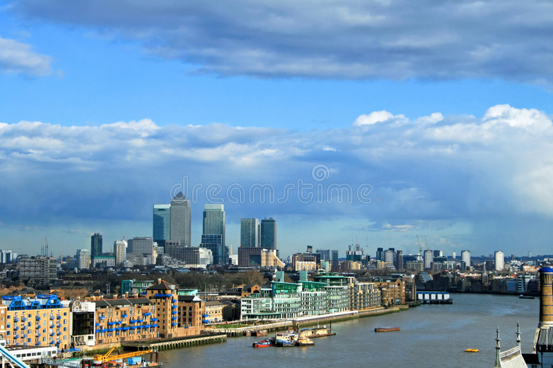 Canary Wharf East. View of Canary Wharf East part of London royalty free stock photo