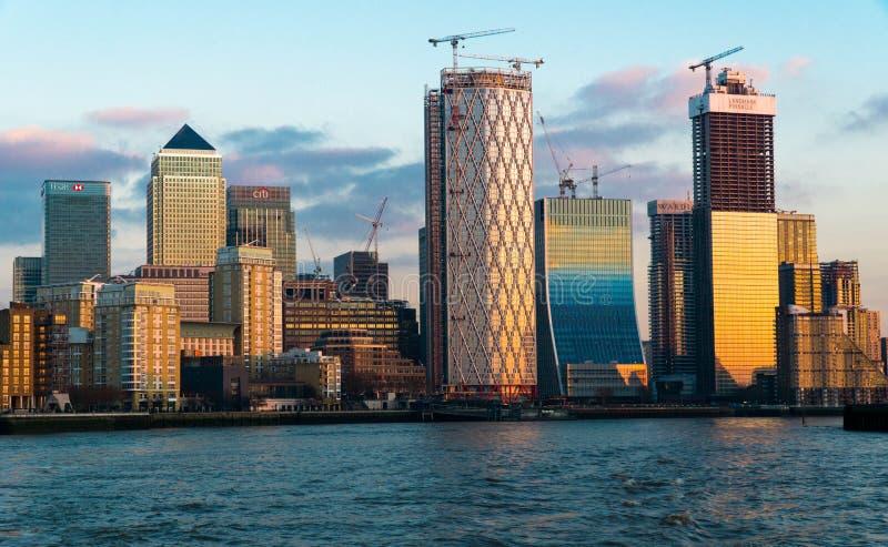 Canary Wharf fotografía de archivo libre de regalías