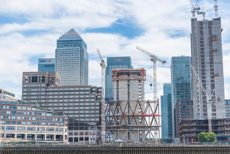 Canary wharf financial district royalty free stock photos