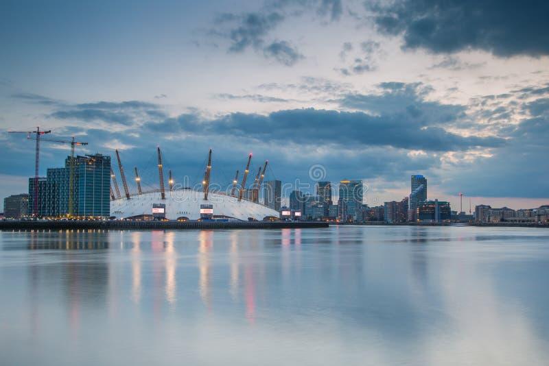 London city o2 arena skyline panorama royalty free stock image