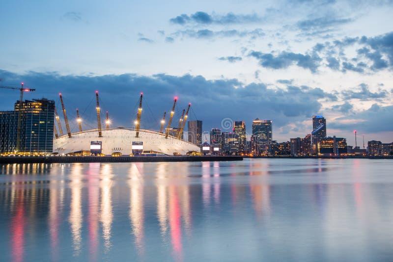 London city o2 arena skyline panorama royalty free stock photo