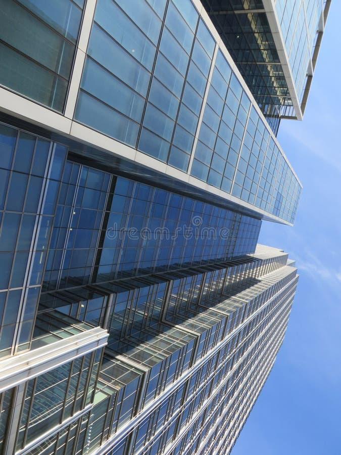 Canary Wharf-Gebouwen royalty-vrije stock afbeeldingen
