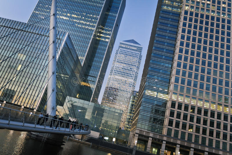Canary Wharf, London. Canary Wharf is a large business and shopping development in East London. London's traditional financial centre stock photography