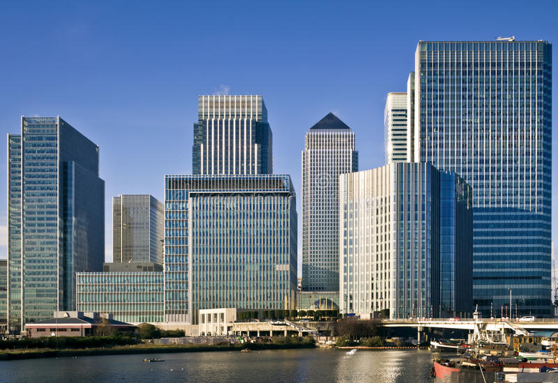 Canary Wharf, London. Canary Wharf, Famous skyscrapers of London's financial district royalty free stock image