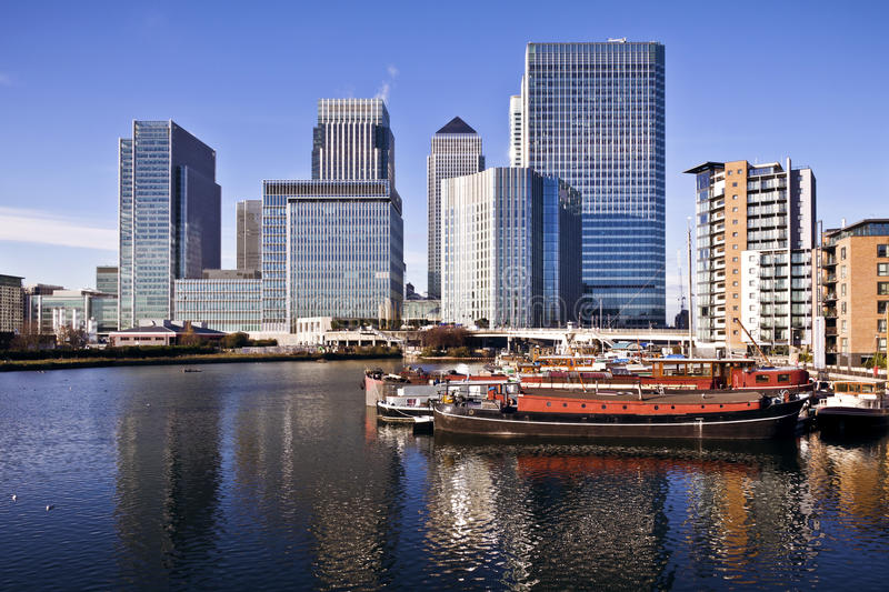 Canary Wharf, London. Canary Wharf, Famous skyscrapers of London's financial district royalty free stock photography