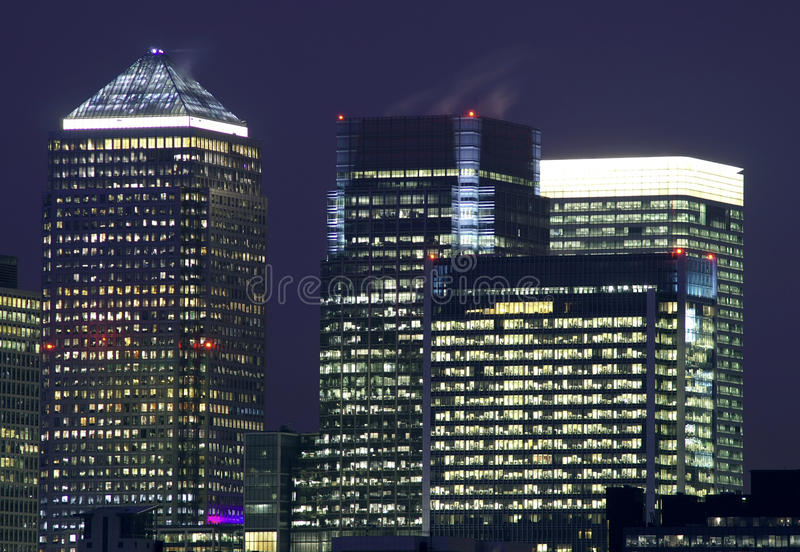 Canary Wharf in London stock photography