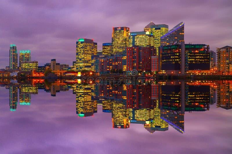 Canary Wharf odbicie obrazy stock