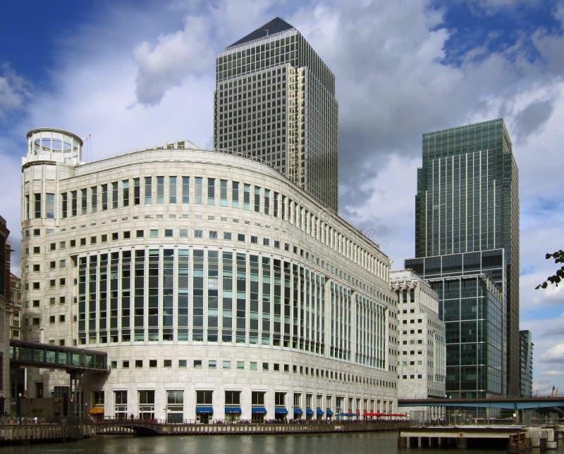Canary Wharf, perspective corrected royalty free stock photos