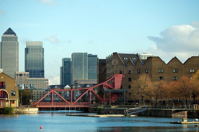 Canary Wharf and Shadwell Basin, London, UK royalty free stock photo