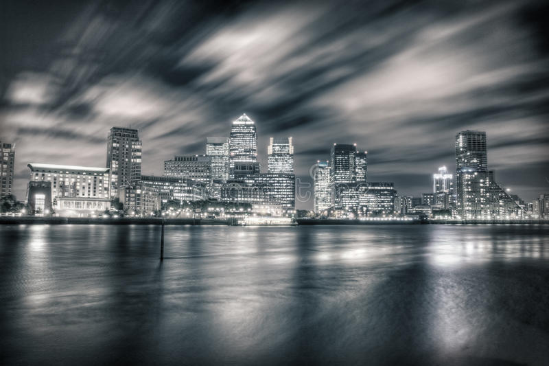 Canary Wharf Skyline Royalty Free Stock Photography