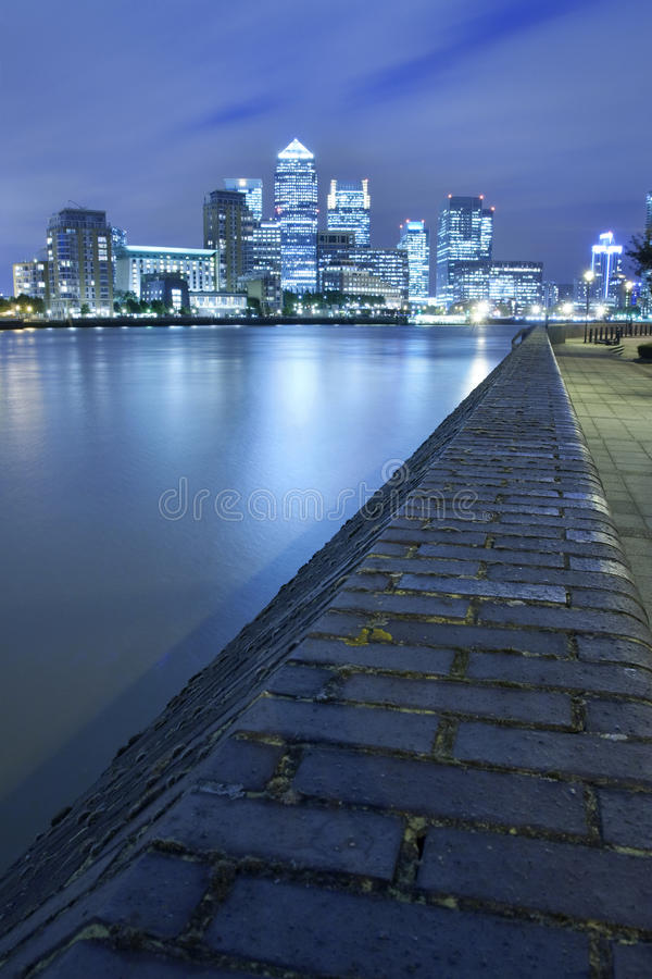 Canary Wharf skyline stock photos