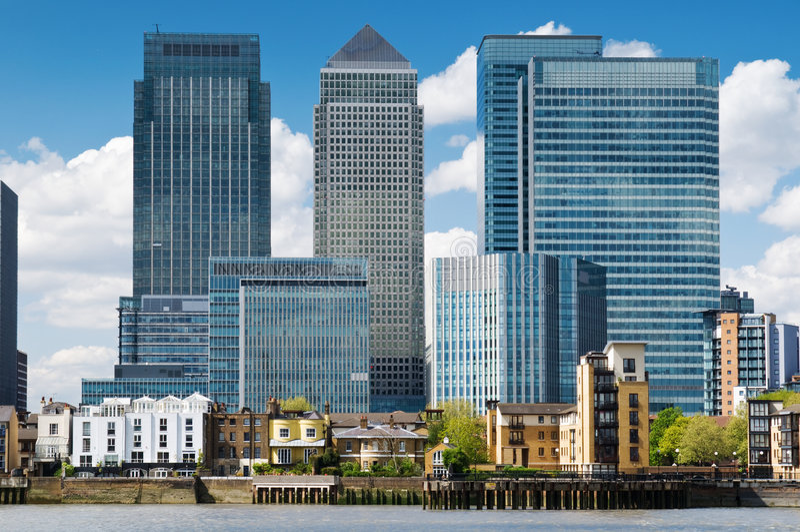 Canary Wharf Skyline stock photography
