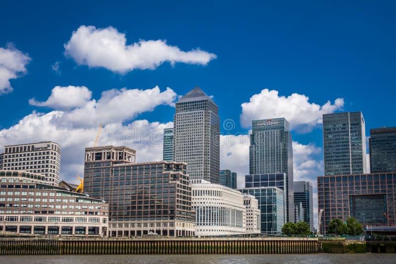 Canary Wharf skyline royalty free stock photography