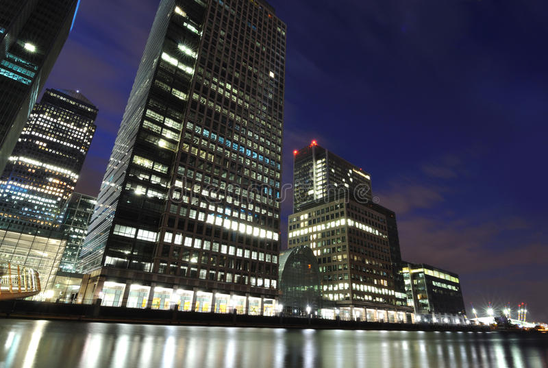 Canary Wharf Skyscrapers Editorial Photography