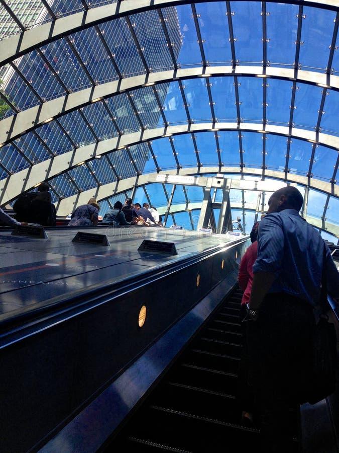 Canary Wharf Stacjonuje fotografia royalty free