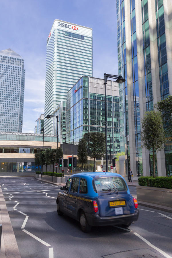 Canary Wharf Tower and HSBC headquarters, London royalty free stock image