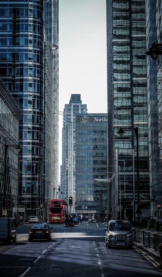 Canary Wharf ulica zdjęcia stock