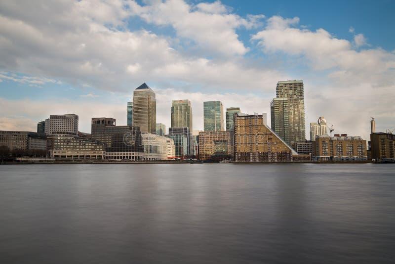 Canary Wharf under dagen royaltyfria foton