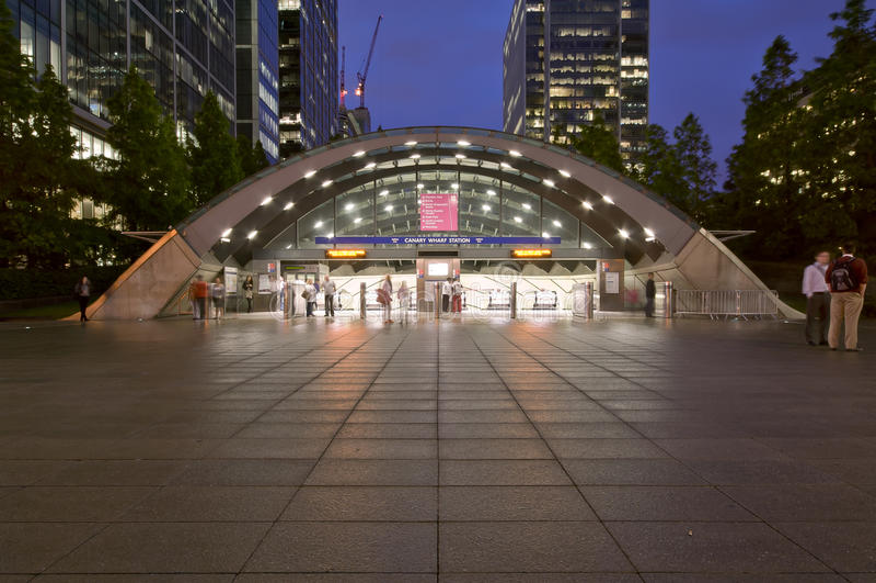 Canary Wharf Underground Station royalty free stock image