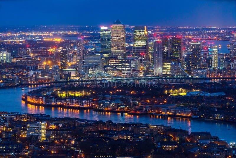 Canary Wharf-Wolkenkratzer, London, Großbritannien lizenzfreies stockbild