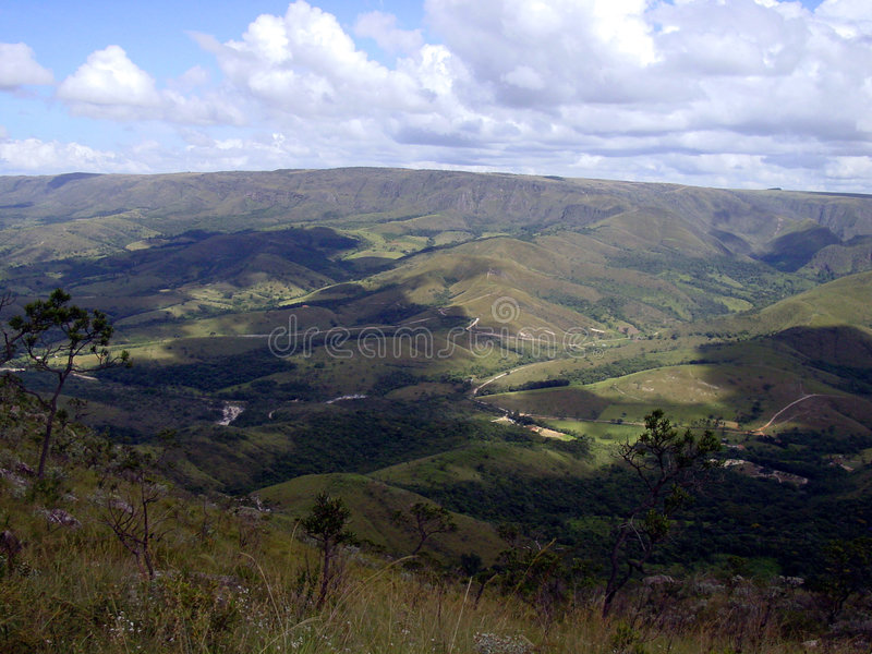 canastraen da landscape serra royaltyfria bilder