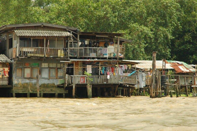 Canaux à Bangkok. image libre de droits