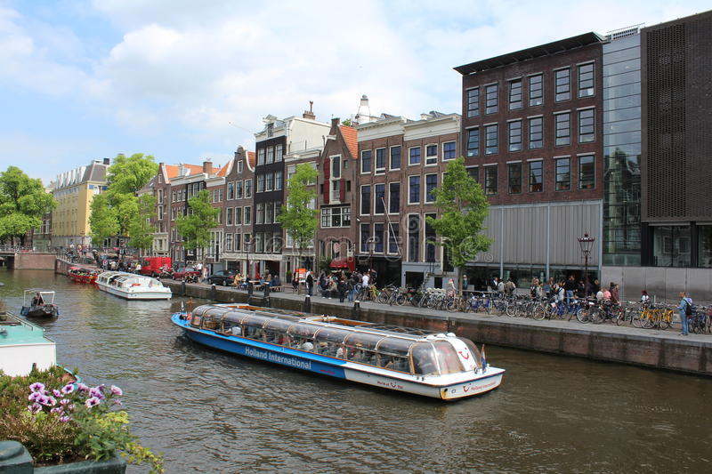 Canaux d'Amsterdam image stock
