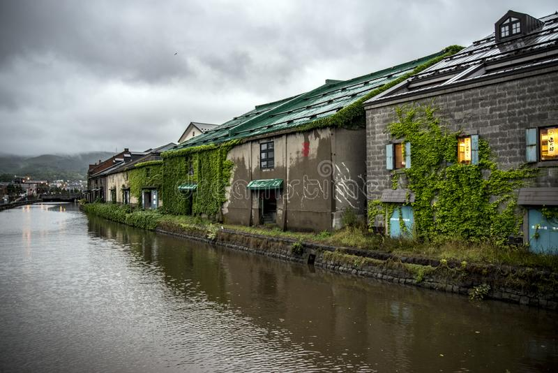 Canaux d'Otaru Japon, Hokkaido, Japon image libre de droits